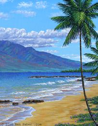 Kamaole Beach Park Kihei Maui Hawaii Painting