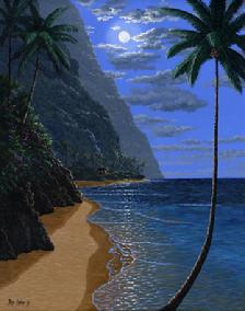 Hawaiian Beach Moon Hawaiian