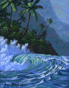 Wave Hawaii Maui Painting picture ocean