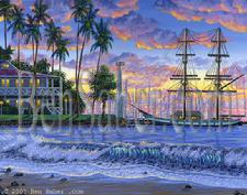 Paintiing # 36 Lahaina Harbor Sunset. Original acrylic painting on canvas board 11x14 inches availableSOLD