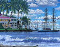 Painting  35 Lahaina Harbor Morning. Original acrylic painting on canvas board 11x14 inches SOLD