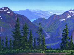Baker Lake Washington painting art