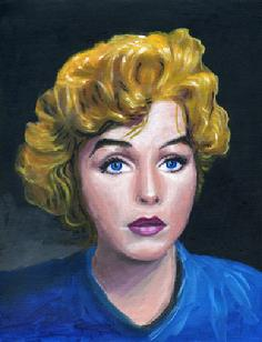 Marilyn Monroe actress portrait painting