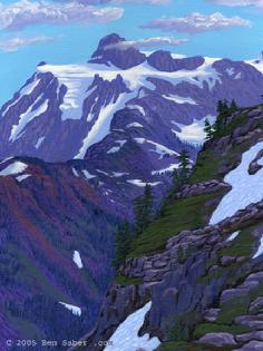 artist point view of mt shuksan arm washington art painting