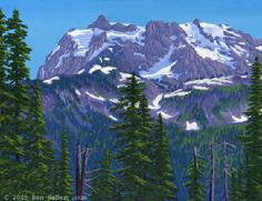 Mt Shuksan from artist point washington painting