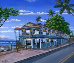 Cheeseburger in Paradise Lahaina Maui Hawaii painting picture