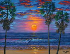 Corpus chrisiti beach sunrise texas painting picture