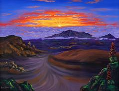 Haleakala Volcano Sunrise Painting Picture Maui Hawaii