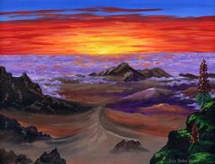 Haleakala Volcano Crater At Sunrise painting picture
