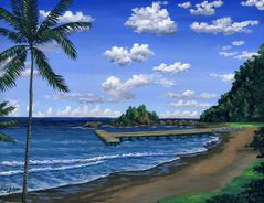 Hana Bay Beach Maui Hawaii painting picture