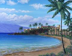 Black Rock Kaanapali Beach Maui Painting Picture