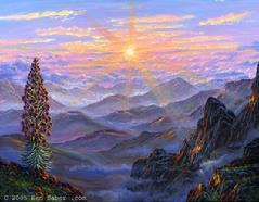 Haleakala Volcano Sunrise painting picture art print
