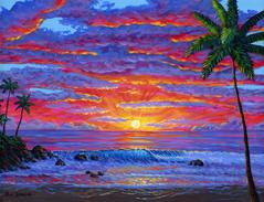 Hawaii Beach Sunset Painting