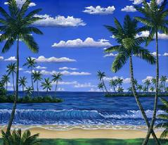 maui beach tropical painting picture hawaii hawaiian day