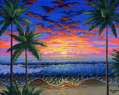 Hawaiian Beach Sunset painting picture image art