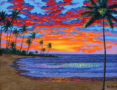 Hawaii beach painting