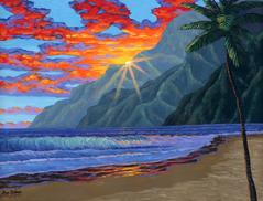 Hawaii Beach Painting art Maui Hawaii