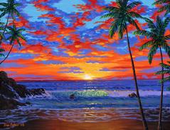 Hawaiian beach painting