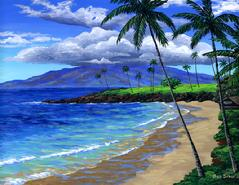 Kapalua Bay Beach Painting Maui Hawaii Picture