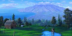 upcountry Maui Kula Painting Hawaii
