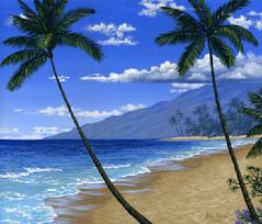 Baby Beach Maui Hawaii painting picture