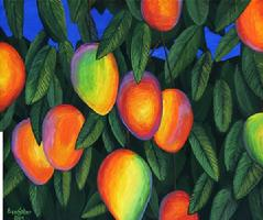 Hawaiian Mangos painting picture fruit