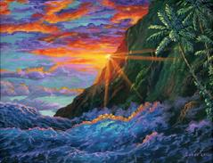 Tropical Sunset painting ocean