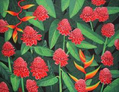 Ginger Flowers Hawaii hawaiian painting picture