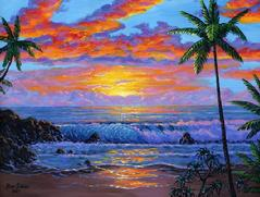 Maui Beach Sunset Painting