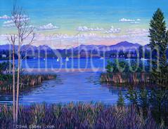 Lake Washington Floating Bridge painting picture