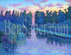 UW Arboretum Canal university painting picture