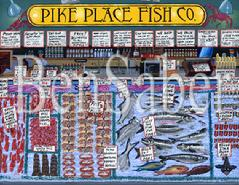 pike place fish co seattle market painting picture