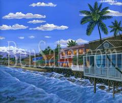 Front street beach lahaina painting picture maui hawaii
