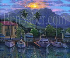 Old Lahaina Courthouse Painting Maui Hawaii