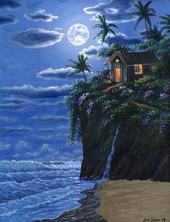 Hawaiian Cabin Painting