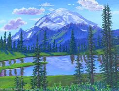 mount rainier tipso lake painting