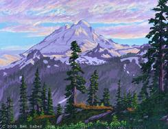 mount baker washington painting