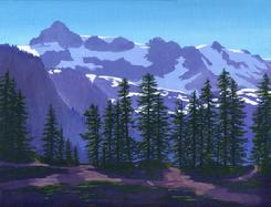 Mount Shuksan Washington Painting art oil