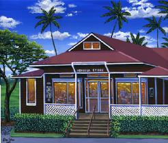 Honolua Store Maui painting picture