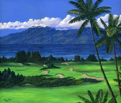 Kapalua bay Golf Course maui hawaii image painting picture