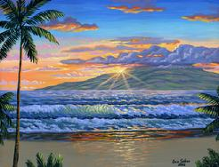 Lahaina beach At Sunset painting picture