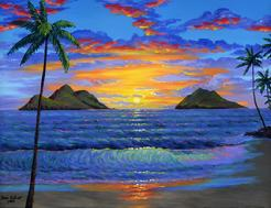 Lanikai Beach Oahu painting