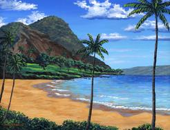 Maluaka beach painting Makena maui hawaii