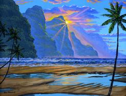 Kauai Beach Napali Coast Painting Hawaii