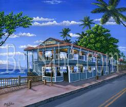 Cheeseburger In Paradise Lahaina front street painting picture maui hawaii