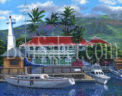 Pioneer In Hotel painting Maui Hawaii