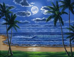 Beach Painting Oil Hawaii