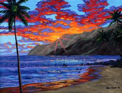 Hawaii Mountains painting art