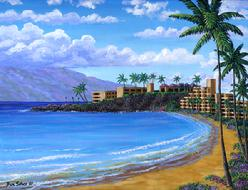 Black Rock Kaanapali Beach painting picture