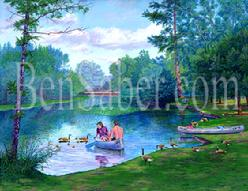 UW Arboretum university of washington canoe painting picture
